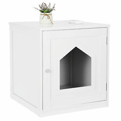 Enclosed Cat Litter Box Furniture House with Enclosure Table Hidden House $32.89