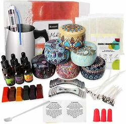 Candle Making Kit – Accessory DIY Set Easy to Make Scented Candle Gel Wax Kit $48.99