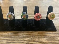Adjustable Button Rings FOUR STYLES NWOT $3.75