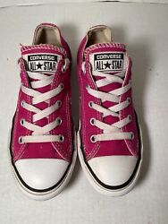Converse All Star Kids Low Top Athletic Sneaker Pink Size 1 Youth $12.99