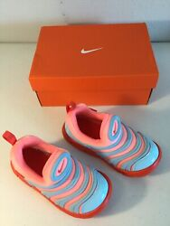 NIKE Orange Orange Blue Girl's Sneakers. Size 10C. NEW.