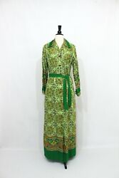 1970s Psychedelic Print Maxi Dress 1970s Maxi Dress with Pockets 70s Dress $78.00