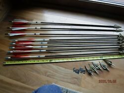 8 Vintage Bear Kodiak 407 408 SUPREME Fiberglass Arrows w Extra Hunt Points $89.00