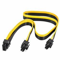 For Silverstone Modular PSU PCI e 6 Pin to 62 8 Pin Power Supply Cable $18.99