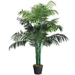3.5 MODERN DECORATIONS FOR HOME FAKE PALM TREE ARTIFICIAL GREENERY PLANTS IN POT $68.99