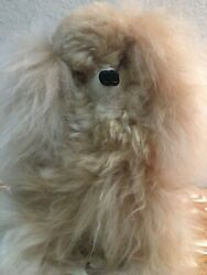 """Vintage Hollow Plush Lightweight Hollow Feel French Poodle 8"""" Soft Fluffy Fur $13.99"""