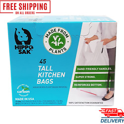 Kitchen Bags with Handles 13 Gallon 45 Count $16.20