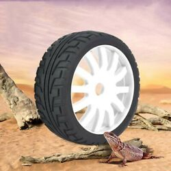 RC Wheel Rim Hub Tires Rubber Tyres for 1 8 On road Racing RC Car Accessory $13.99