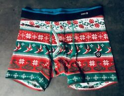 STANCE KIDS HOLIDAY BOXER BRIEFS BOYS VARIOUS SIZES BRAND NEW W O TAGS $10.99