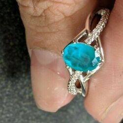 Ring Bomb Party Size 7 Natural Fusion Emerald Green Quartz And White Topaz Ring $14.00