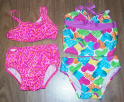 Swimsuits Girls size 12 Months Two Piece Joe Boxer Lot of 2 $4.95
