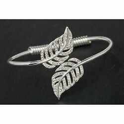 Equilibrium SP Feathers Open Bangle Jewellery Spiritual Gift Novelty Adults GBP 16.49