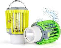 2 Camping Lantern Flashlight Bug Zapper 4 in 1 Portable Rechargeable Lights $12.99