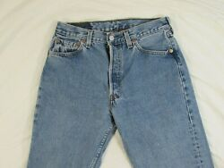 Vtg 90s Levi#x27;s 501 For Women USA Made Faded Denim Jeans Measure 27.5x29.5 Mom $59.99