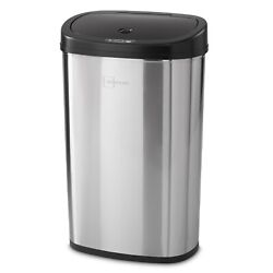 Motion Sensor Trash Can Touchless Stainless Steel Garbage Automatic Kitchen Bin $72.34