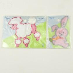 Wrights Poodle amp; Bunny Rabbit Patch for Poodle Skirts Iron On NEW $5.99