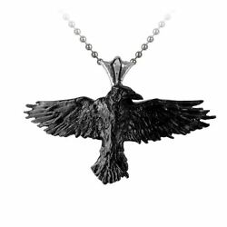 GENUINE Alchemy Gothic Black Raven Pewter Pendant BRAND NEW
