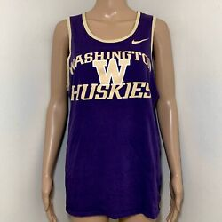 The Nike Tee Washington Huskies College Tank Top Sleeveless Shirt Athletic Top M