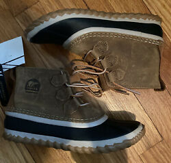 Sorel Out N About Duck Boot Leather Waterproof Elk Black Girls Size 3 NEW $39.99