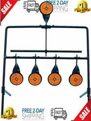 Steel Shooting Resetting Target Metal Stand Rifle Pistol Gong Handgun $37.99