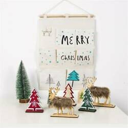 Cartoon Hanging Pouch Wall Non woven Christmas Tree Storage Bags YS $8.81