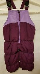 Timberland Purple Girl Snowsuit Snow Pants and Bib 18 Months EUC $10.00