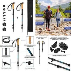 Cascade Mountain Tech Trekking Poles Carbon Fiber Walking or Hiking Sticks wit $67.99