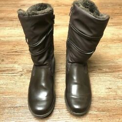 *WEATHERPROOF* WOMENS BOOTS FAUX FUR TOP SIZE 7M *RICH CHOCOLATE BROWN* $34.99