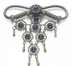 PENDANT antique with charoite cabochons $4.99