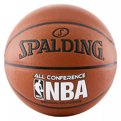 SPALDING OFFICIAL NBA ALL CONFERENCE INDOOR OUTDOOR BASKETBALL SIZE 7 29.5quot; $48.50