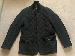 Barbour Black Lutz Quilted Zip Jacket Men's Size Large EUC $105.00