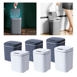 Touch Free Induction Trash Can Smart Motion Sensor Office Automatic Kitchen $40.23