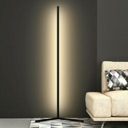 Contemporary Modern 5ft LED Corner Floor Lamp Aluminum Warm White w Dimmer $56.00