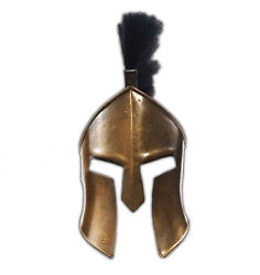 Antique Medieval 300 Spartan Leonidas 300 w Black Plume Movie Replica Helmet Arm $49.29