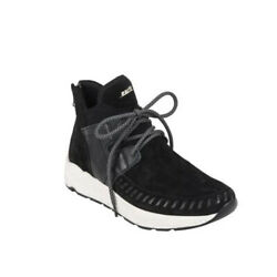 Earth JAUNT Womens Black Suede Lace Up Ankle Sneaker Booties Boots $47.97
