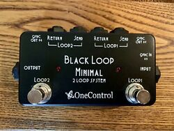 "One Control ""Black Loop"" Minimal 2 Channel Loop Switcher System Pedal $49.00"
