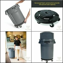 Rubbermaid Commercial Products Round Dolly Black Brute Twist On Off