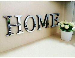 4 Letters Home or Love 3D Mirror Wall Stickers Home Decoration $15.99