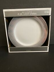 TARGET Silver Noel Salad Plates Arctic Solstice 9quot; NIB 4 Four Sets Available $35.00