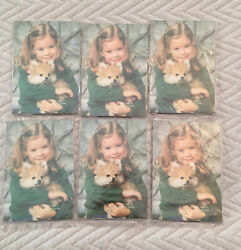 """Lot of 6 3 1 2"""" X 5 Magnetic Lucite Plastic Frames $6.00"""