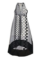 NEW ANTHROPOLOGIE MAEVE BLACK AND WHITE LONG DRESS 4 $19.99