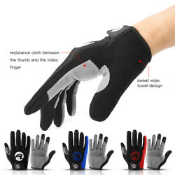 Outdoor Sports Cycling Touch Screen Gloves Full Finger Anti Bike Bicycle Glove $9.69