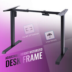 Height Adjustable Electric Standing Desk Frame for Home Office and More Black $165.99