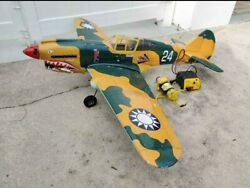 Gas RC Plane P 40 Flying Tiger Airplane 62quot; Wingspan $200.00