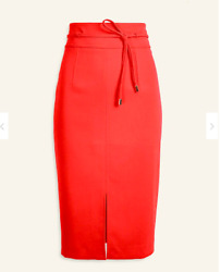 NWT Ann Taylor Hibiscus Red Pencil Skirt Size 2 $24.99