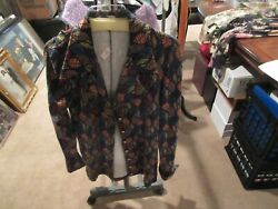 Betsey Johnson Jacket L Vintage Unique Small Waist Small Frame No Hips $125.00