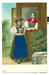 Postcard Ladies Victorian Style Colorful Dresses Embossed Unposted VPC03. $12.99