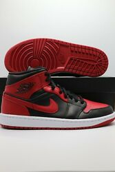 "Nike Air Jordan 1 Mid ""Banned"" Red Black 554724 074 Men#x27;s amp; GS Sizes 1 13 $169.97"