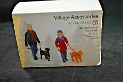 Department 56 Taking the Girls for a Walk 6001690 NIB $29.94