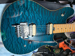 Peavey Wolfgang Special Blue Quilt OHC D tuna with Kill Switch MIK $650.00